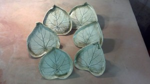 Morning Glory Leaves Plates
