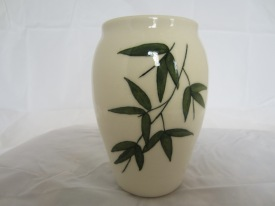 Porcelain Vase with Handpainted Bamboo Design